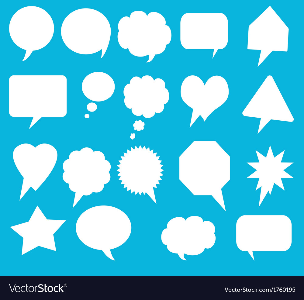 Blank empty speech bubbles vector | Price: 1 Credit (USD $1)
