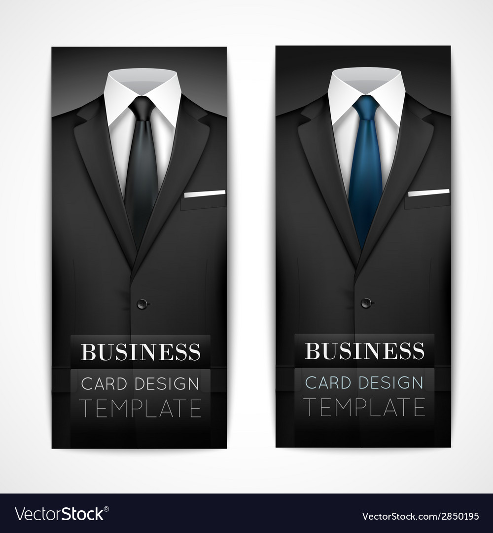 Businessman suit invitation collection vector | Price: 1 Credit (USD $1)
