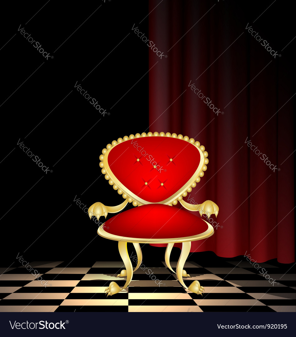 Chair in a dark room vector | Price: 1 Credit (USD $1)