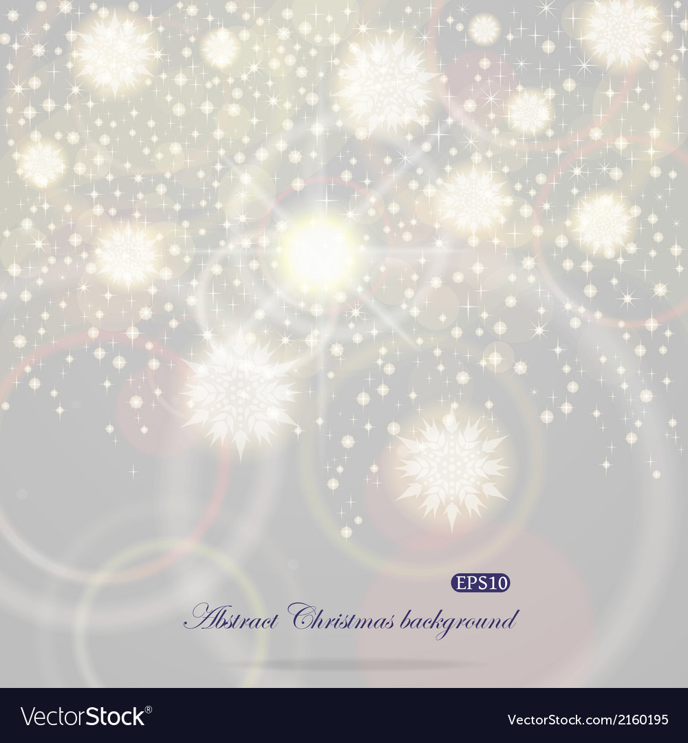 Christmas background with flying snowflakes vector | Price: 1 Credit (USD $1)