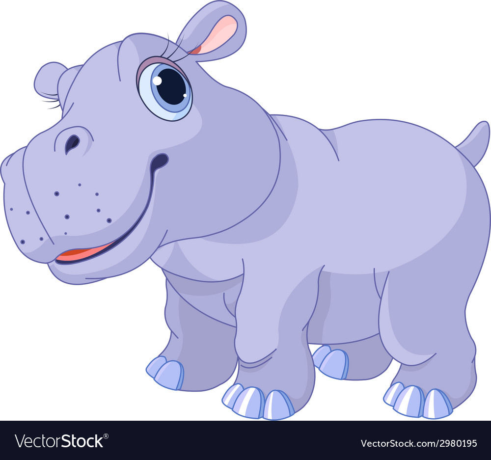 Cute hippo vector | Price: 1 Credit (USD $1)