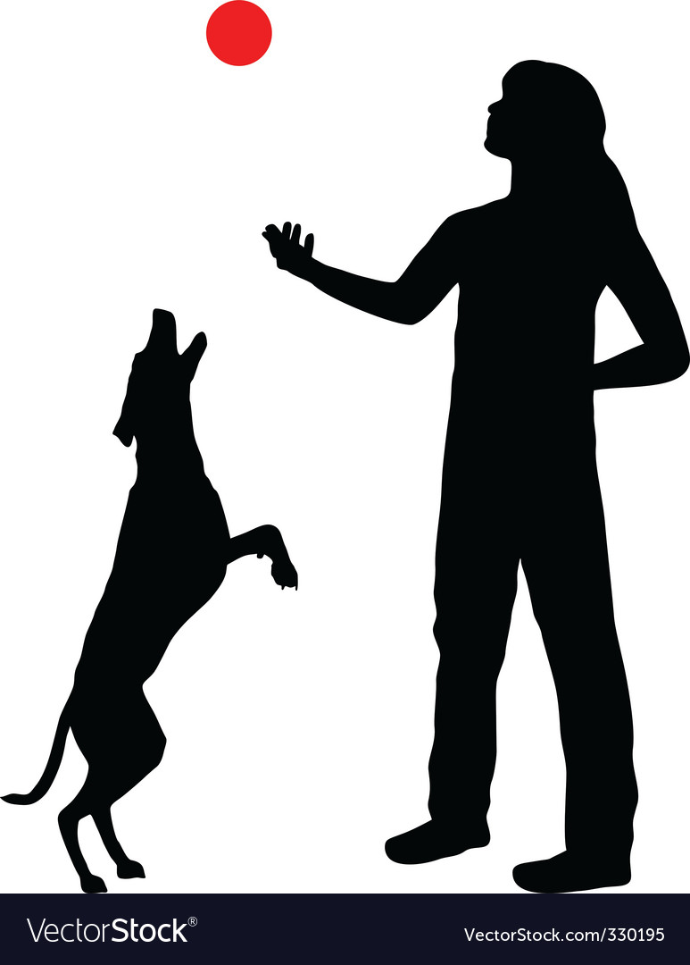 Dog training vector | Price: 1 Credit (USD $1)
