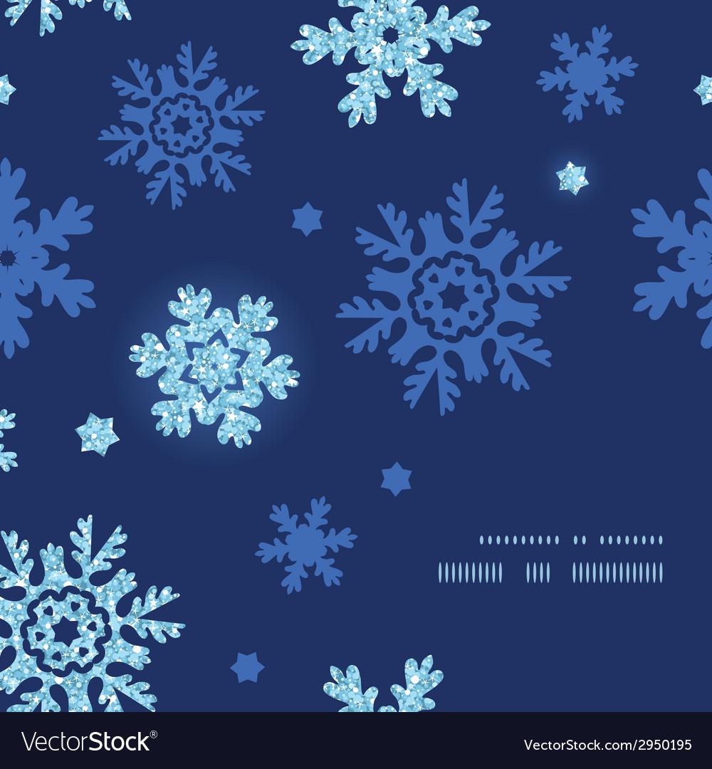 Glitter snowflakes dark frame corner pattern vector | Price: 1 Credit (USD $1)
