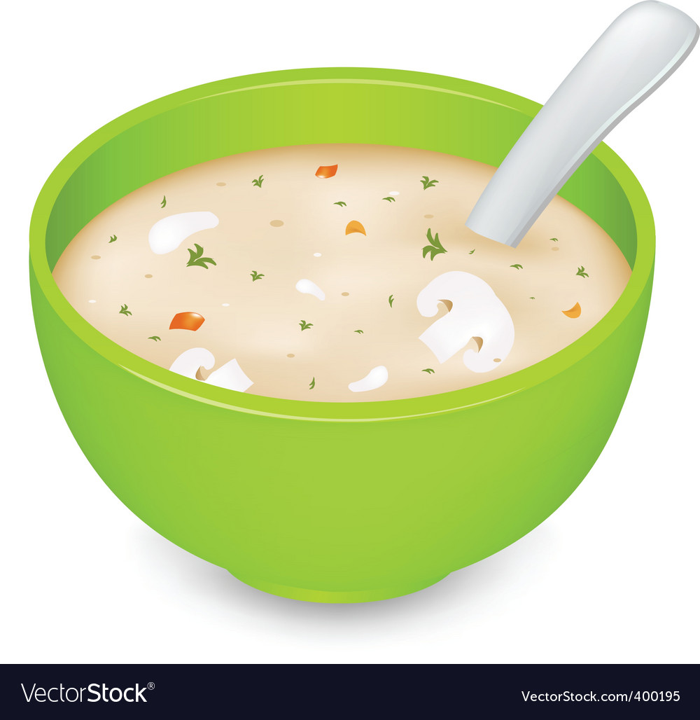 Mushroom soup vector | Price: 1 Credit (USD $1)