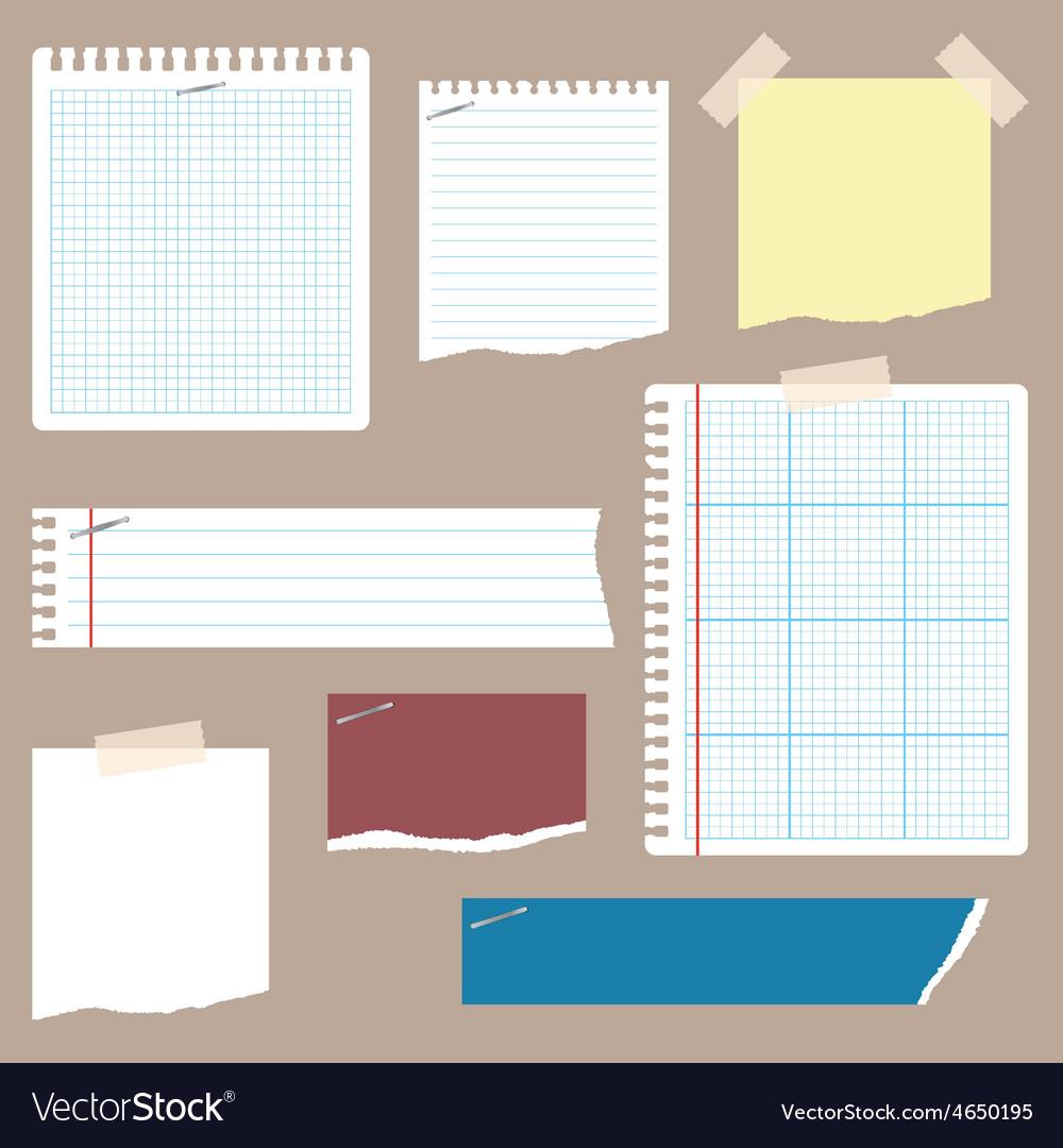 Notepaper 1 vector | Price: 1 Credit (USD $1)