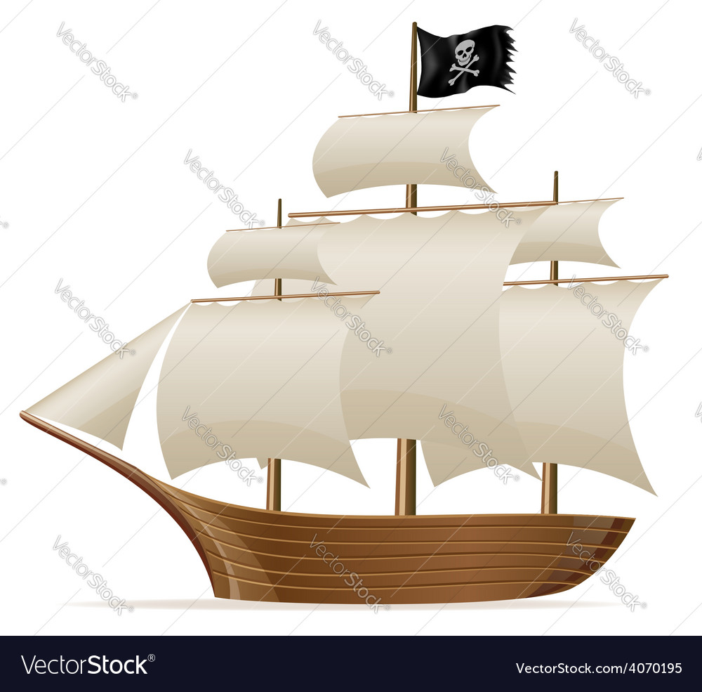 Pirate ship vector | Price: 3 Credit (USD $3)