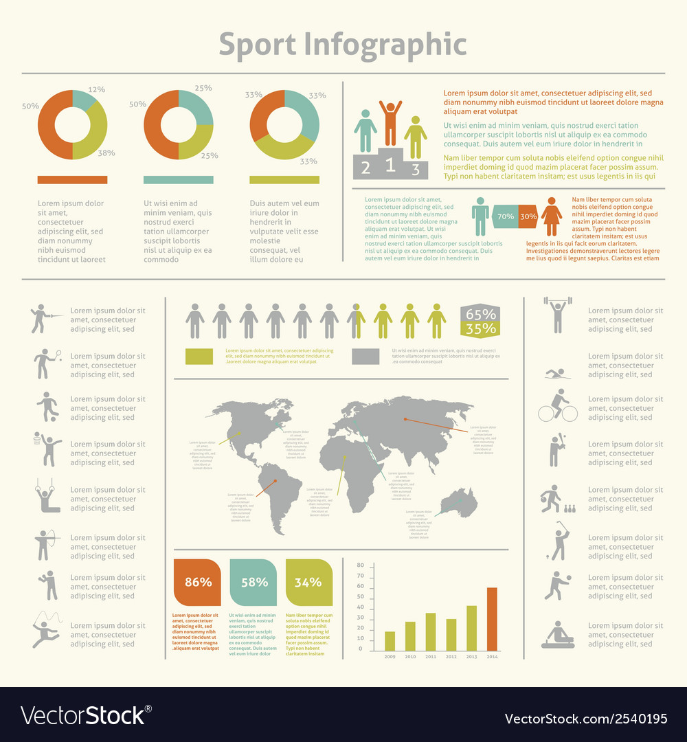 Sport infographic template chart vector | Price: 1 Credit (USD $1)