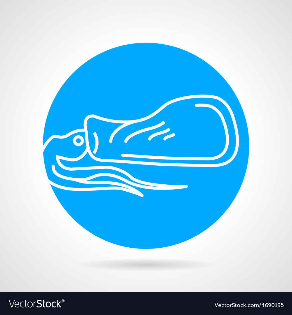Squid blue round icon vector | Price: 1 Credit (USD $1)