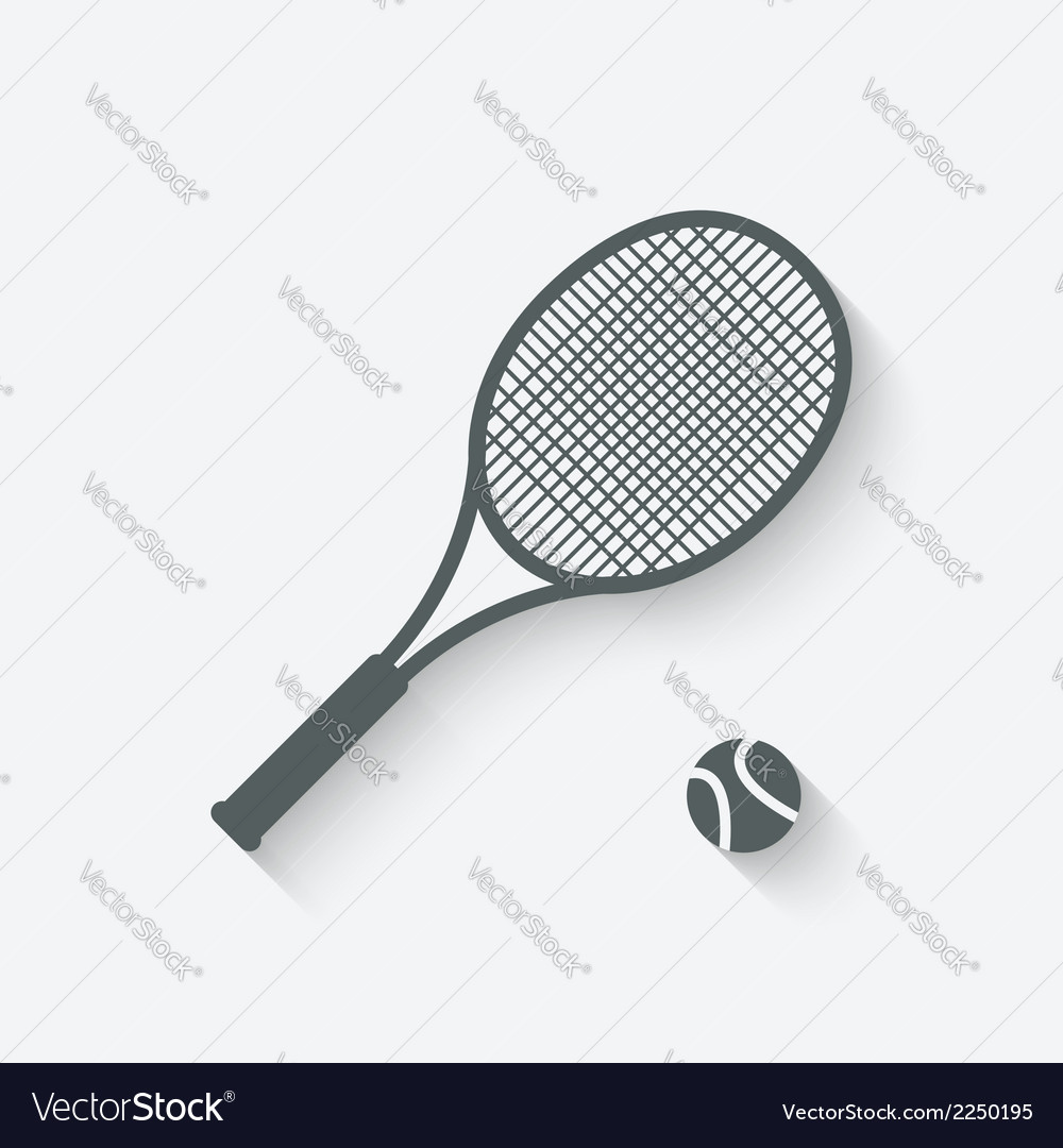Tennis sport icon vector | Price: 1 Credit (USD $1)
