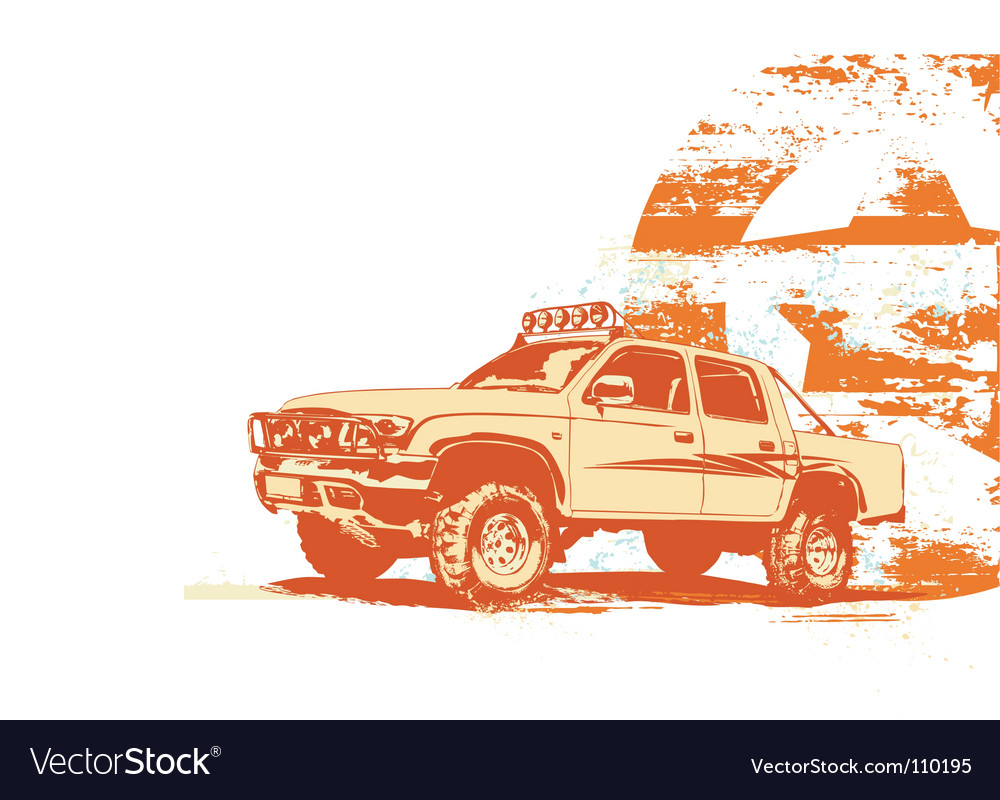 Vintage military vehicle vector | Price: 1 Credit (USD $1)