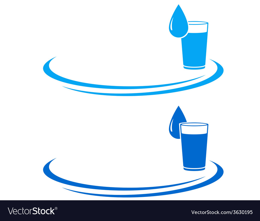 Water glass icon with drop vector | Price: 1 Credit (USD $1)