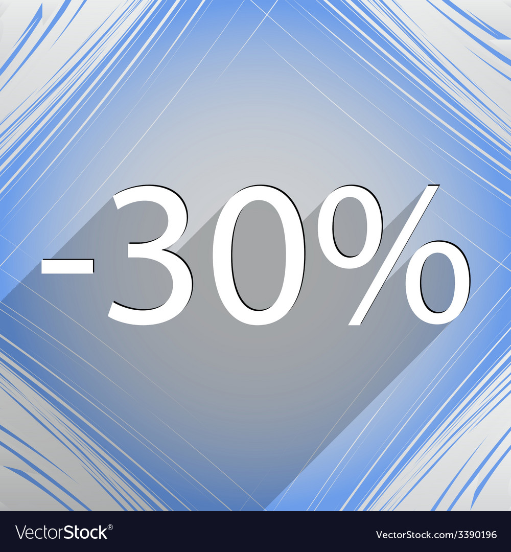 30 percent discount icon symbol flat modern web vector | Price: 1 Credit (USD $1)