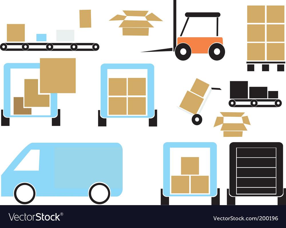 Cargo elements vector | Price: 1 Credit (USD $1)
