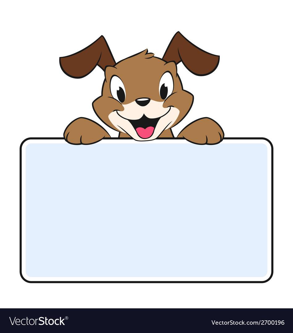 Cartoon banner dog vector | Price: 1 Credit (USD $1)