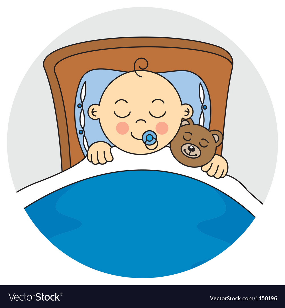 Child sleeping vector | Price: 1 Credit (USD $1)