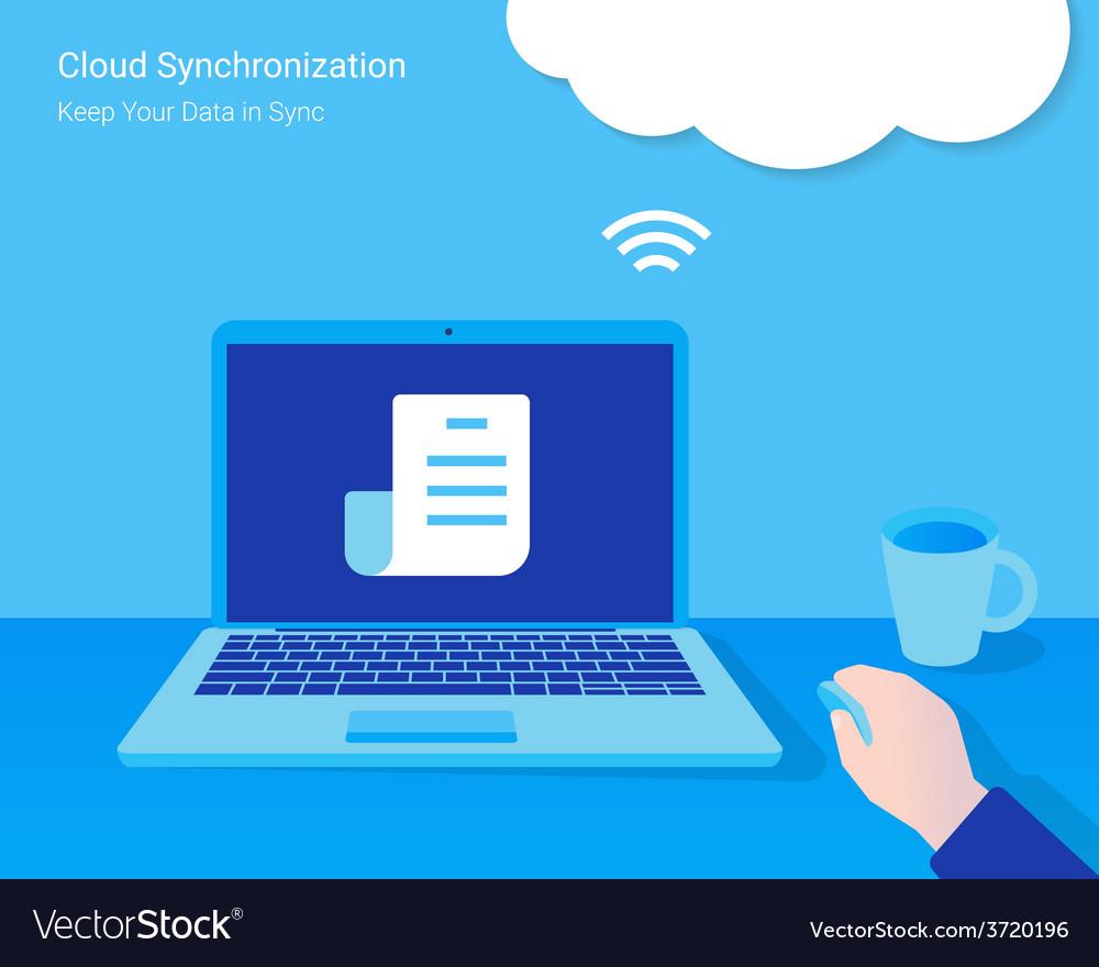 Cloud synchronization vector   Price: 1 Credit (USD $1)
