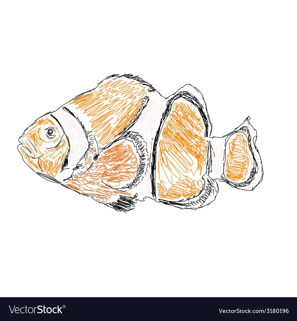 Exotic sea fish vector | Price: 1 Credit (USD $1)