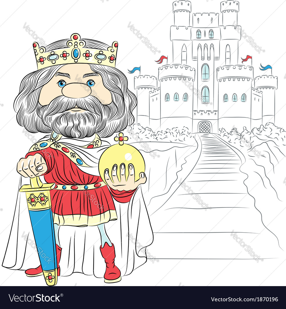 Fairytale cartoon king charles the first vector | Price: 1 Credit (USD $1)