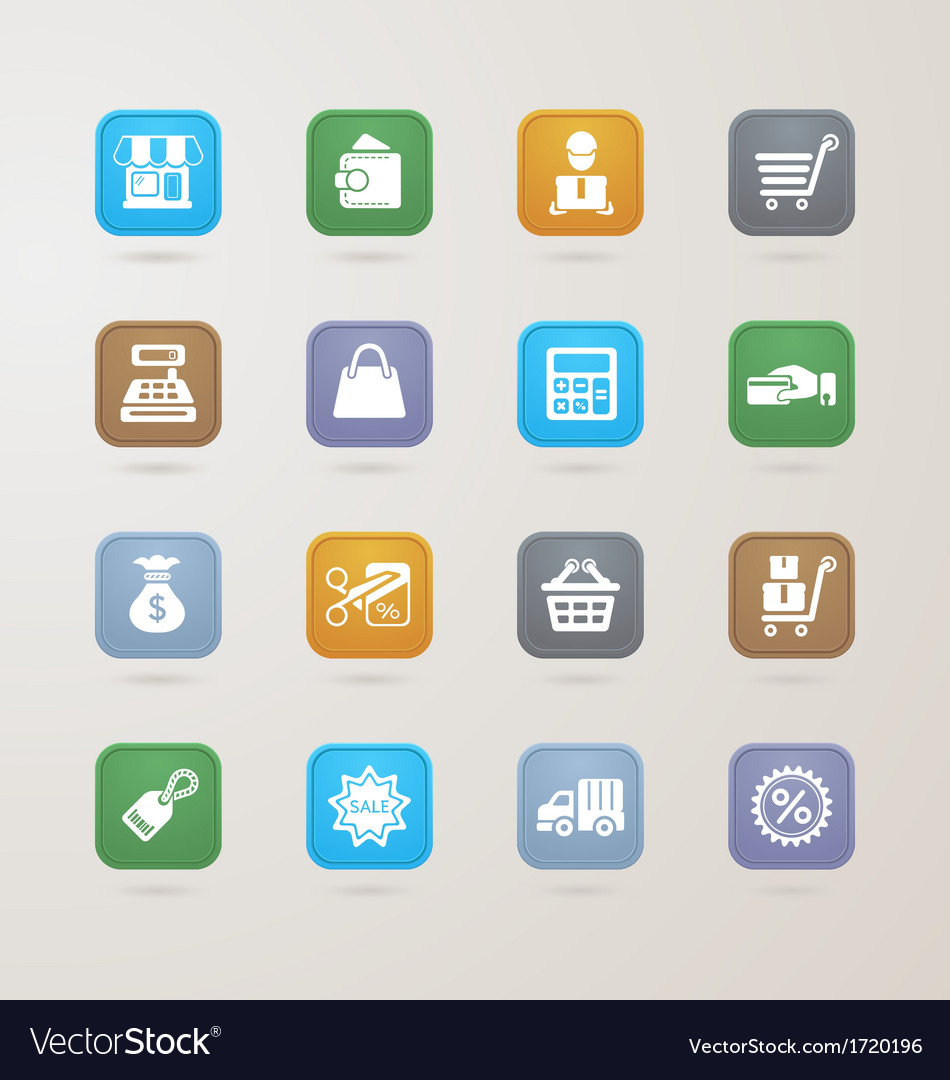Finance and shopping icons set vector | Price: 1 Credit (USD $1)
