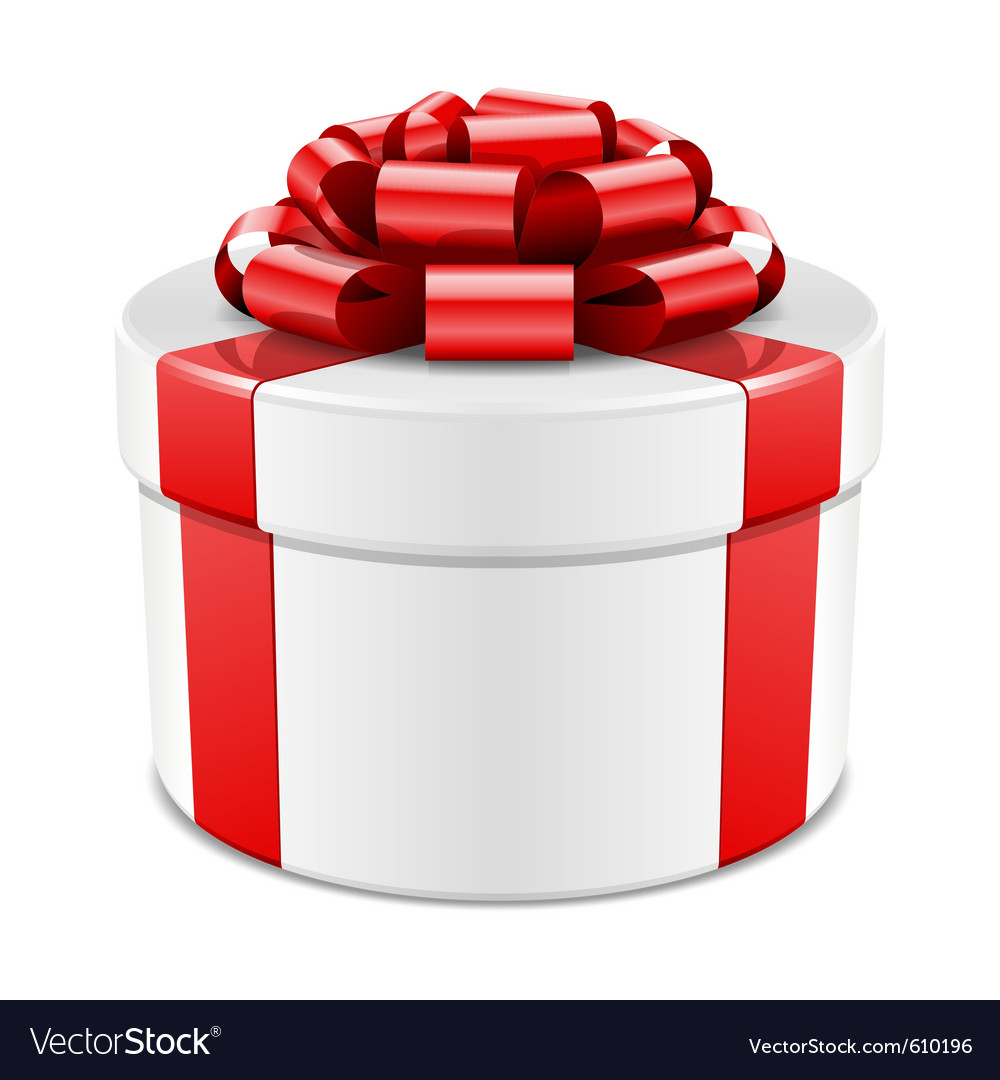 Gift box with red bow vector | Price: 1 Credit (USD $1)