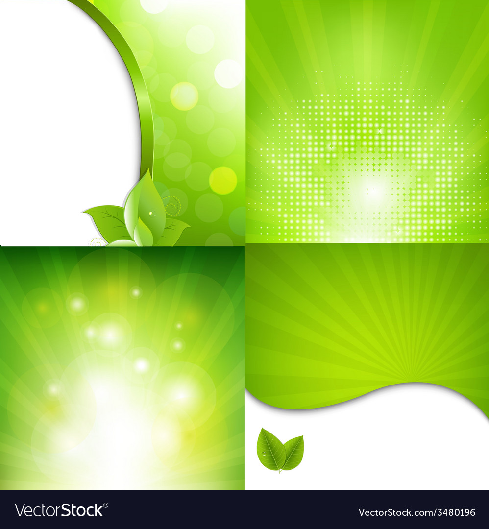 Green poster with bokeh vector | Price: 1 Credit (USD $1)