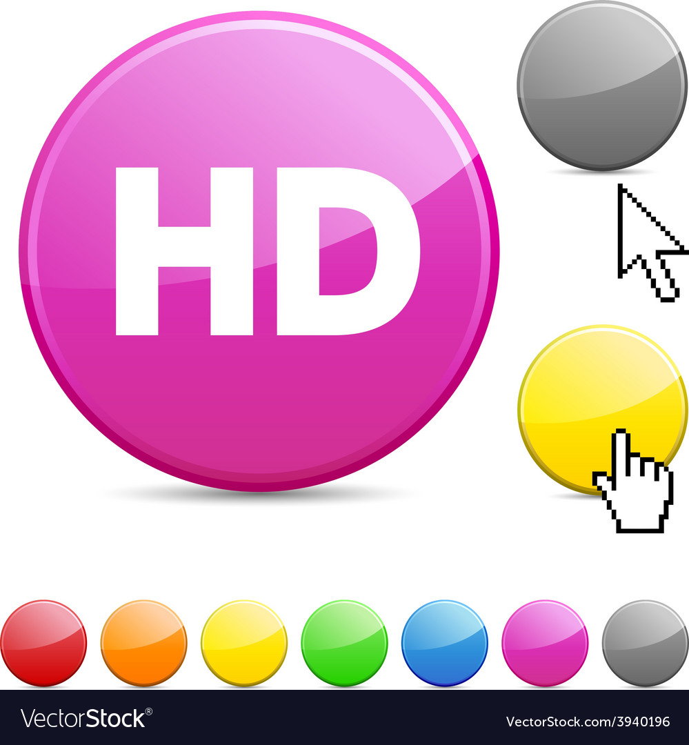 Hd glossy button vector | Price: 1 Credit (USD $1)
