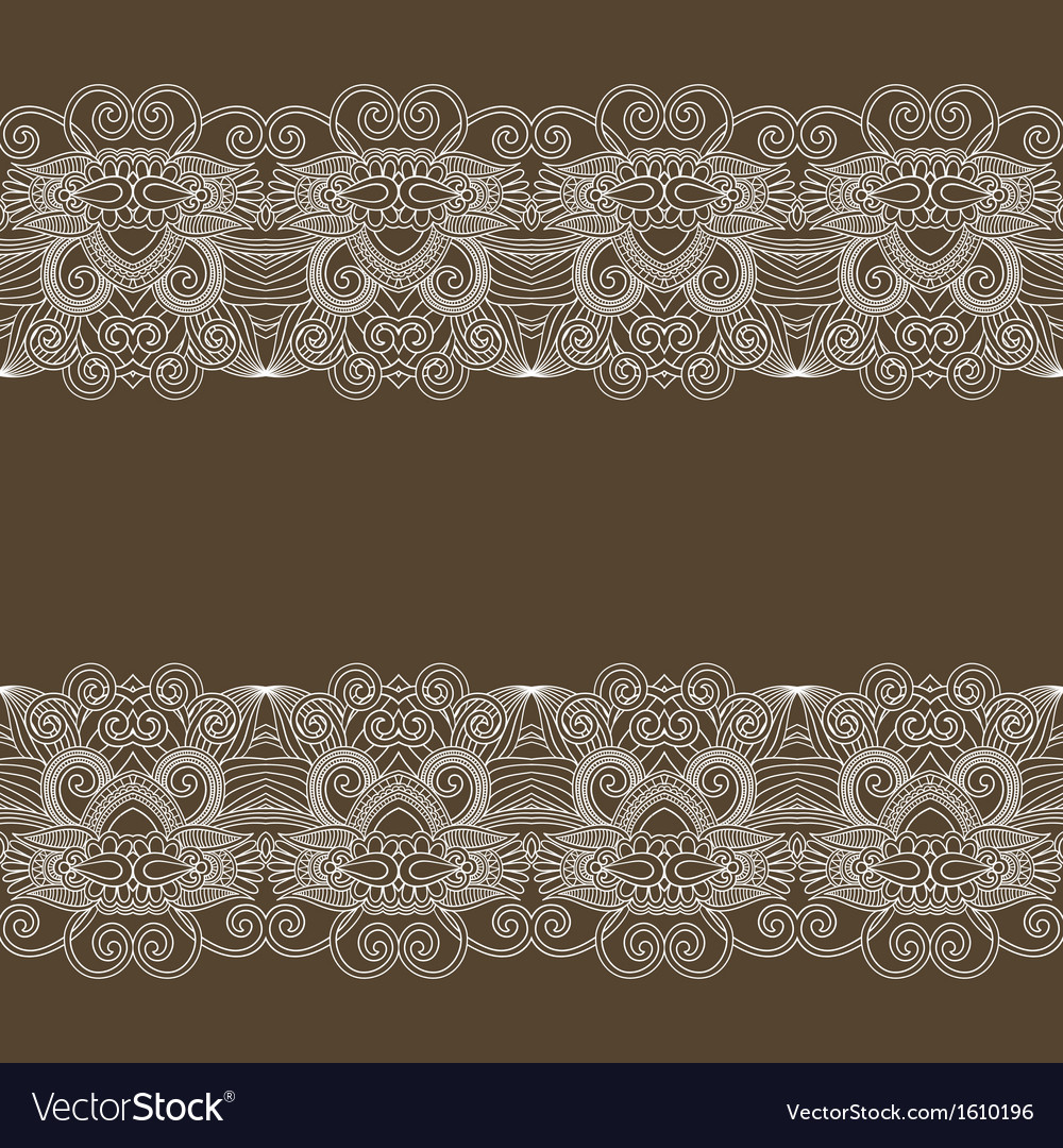 Ornament floral background with lace for your desi vector | Price: 1 Credit (USD $1)