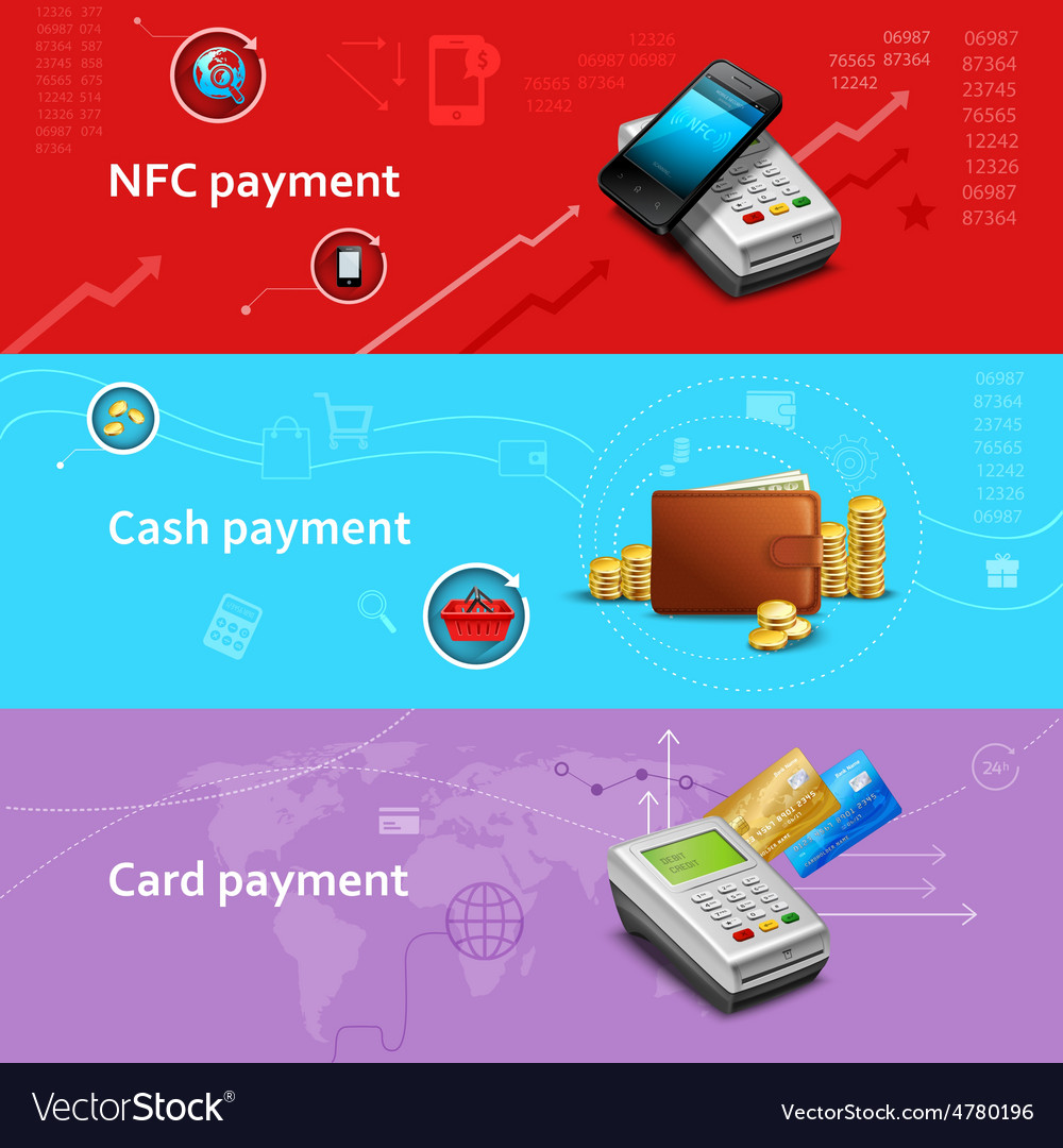 Payment banners set vector | Price: 3 Credit (USD $3)