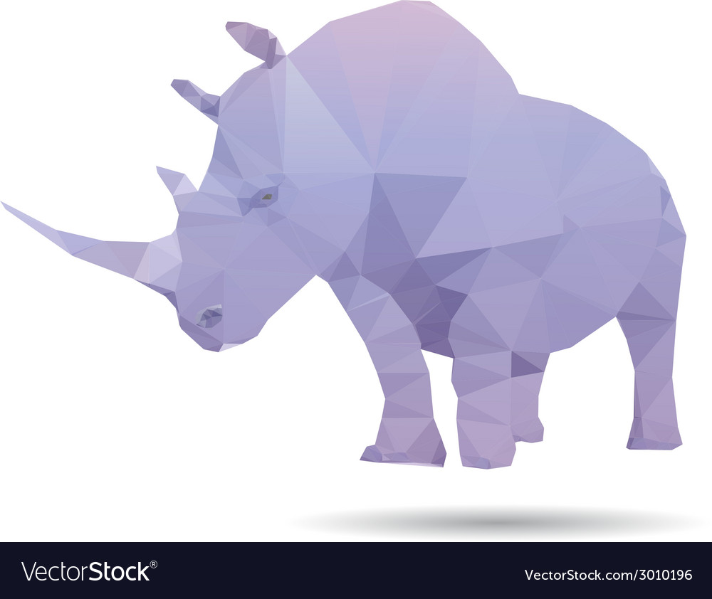 Rhino isolated vector | Price: 1 Credit (USD $1)