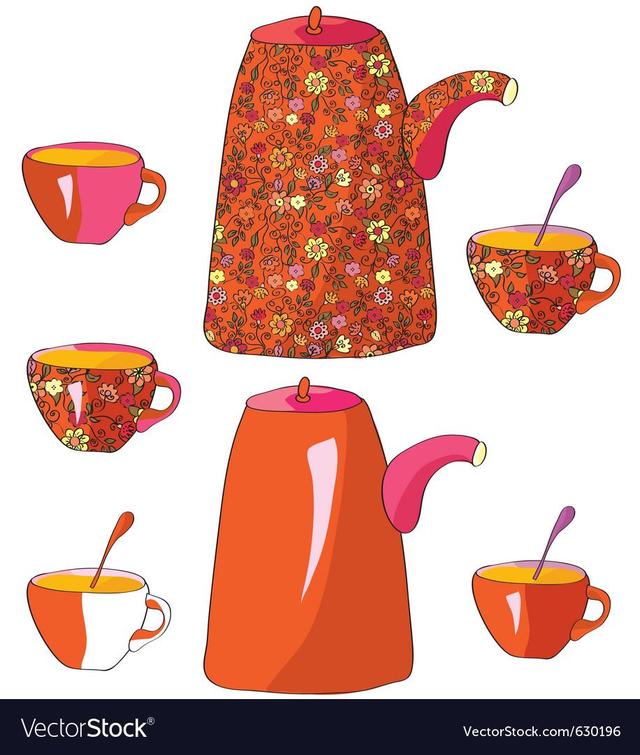 Tea sketch vector | Price: 1 Credit (USD $1)
