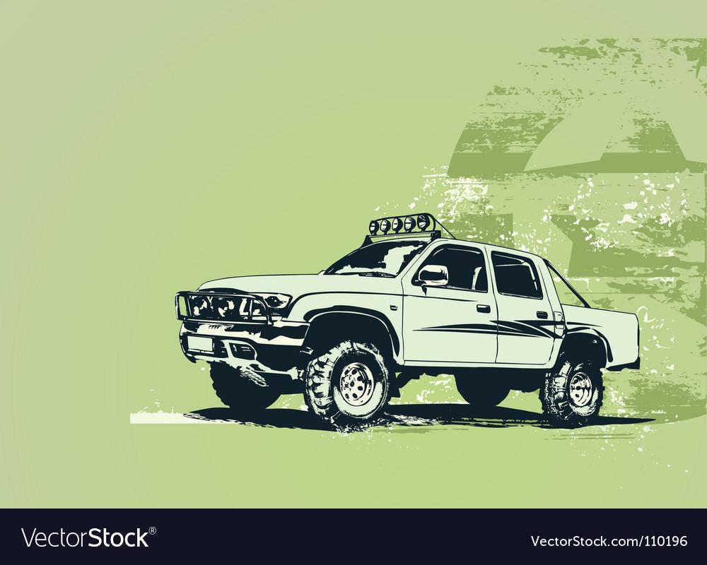 Vintage military vehicle vector | Price: 1 Credit (USD $1)