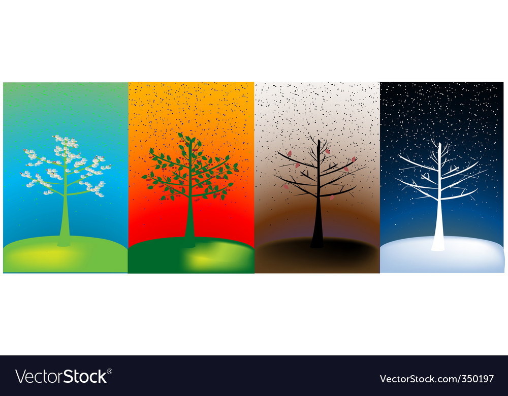 Abstract seasons vector | Price: 1 Credit (USD $1)