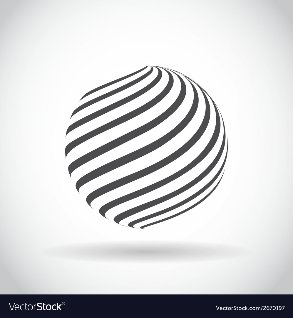 Abstract swirl sphere globe symbol vector | Price: 1 Credit (USD $1)