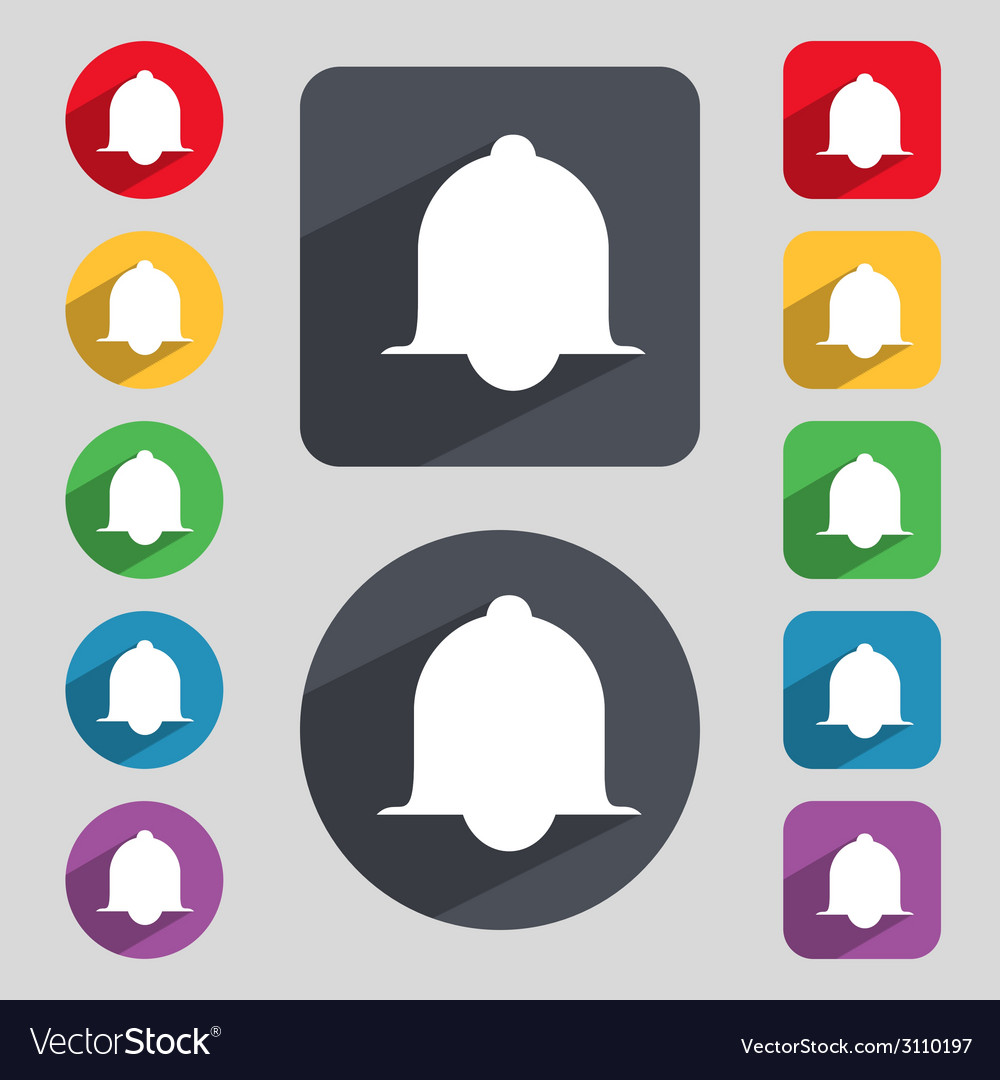 Alarm bell sign icon wake up alarm symbol speech vector | Price: 1 Credit (USD $1)