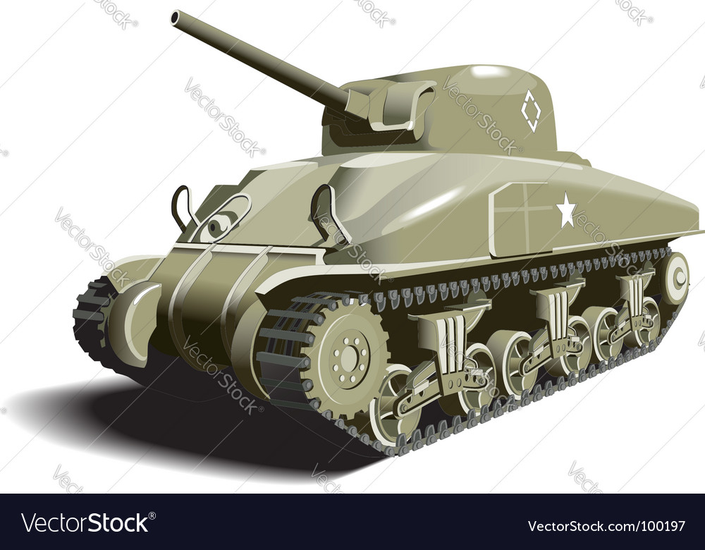 American tank vector | Price: 3 Credit (USD $3)