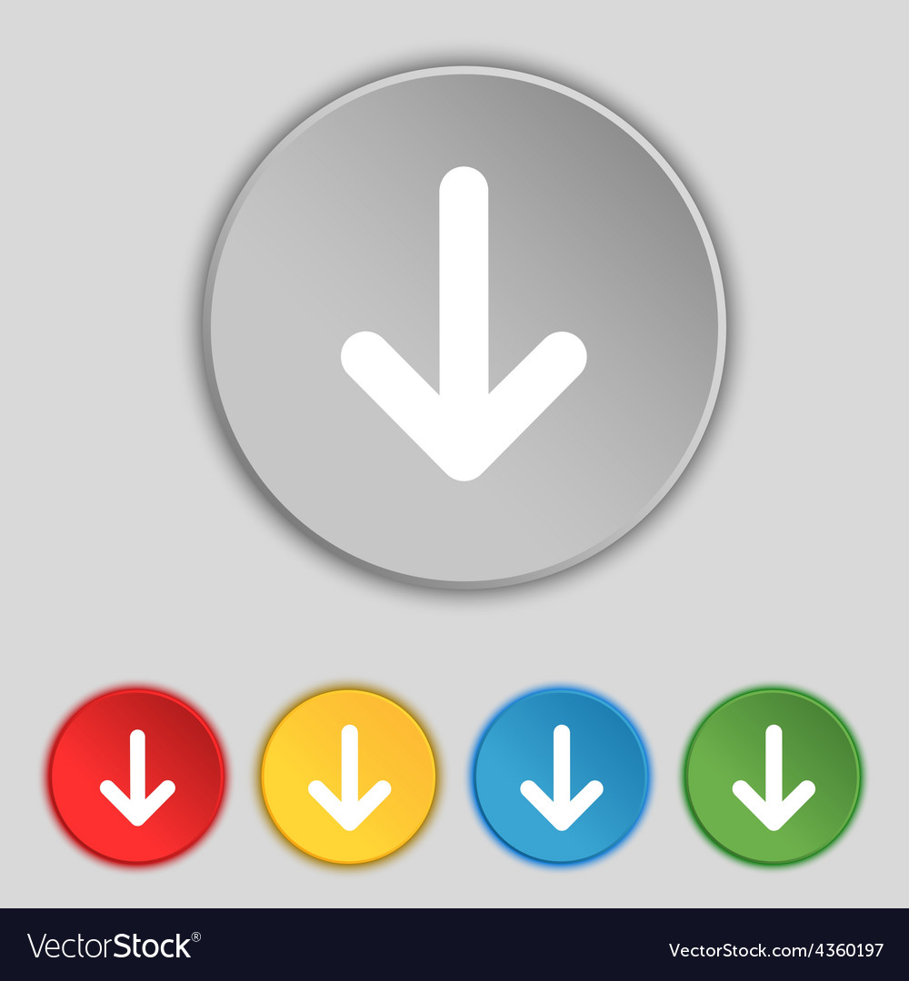 Arrow down download load backup icon sign symbol vector | Price: 1 Credit (USD $1)