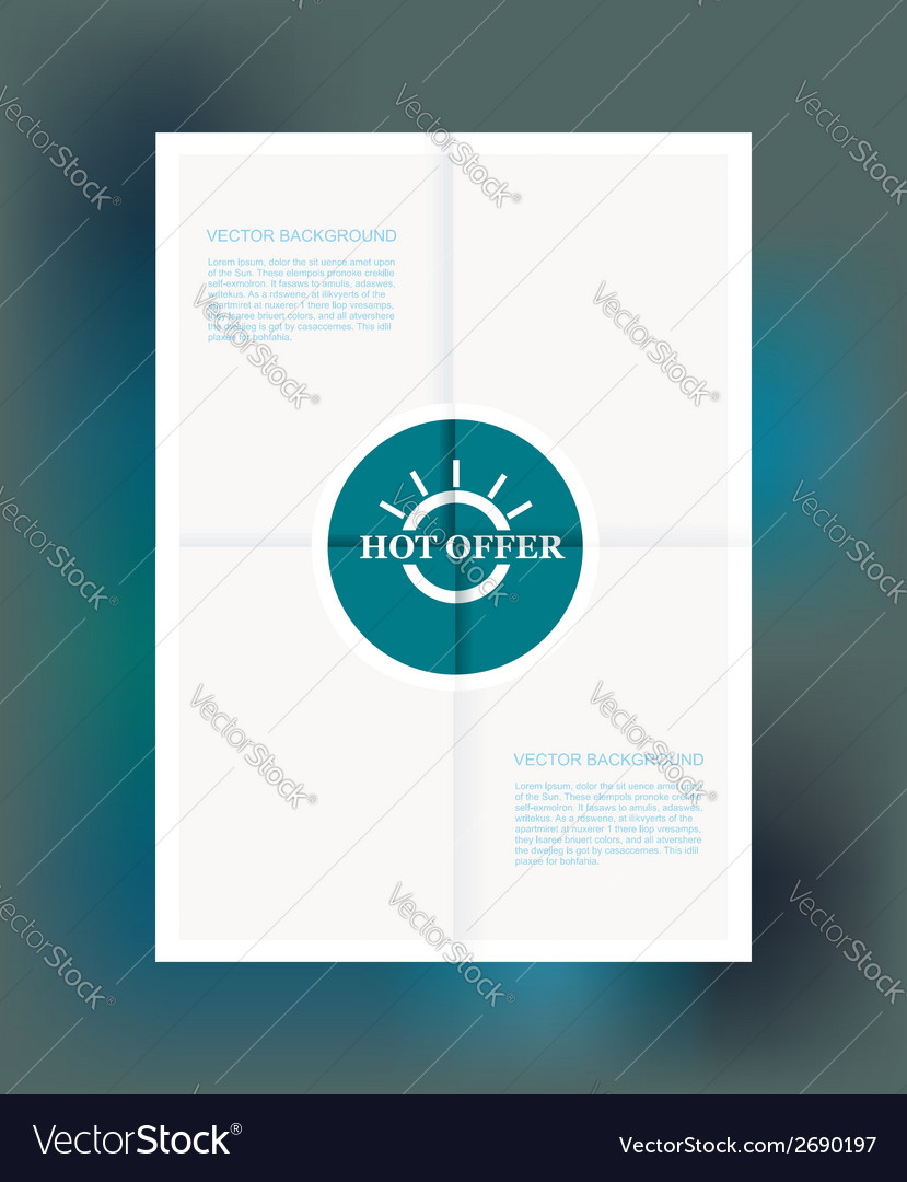 Best offer label on folded paper vector | Price: 1 Credit (USD $1)