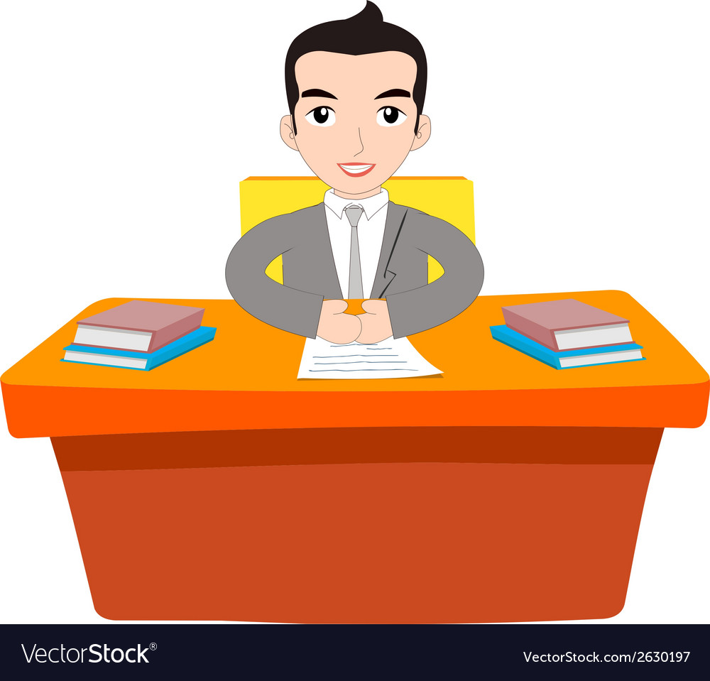 Businessman working at office vector | Price: 1 Credit (USD $1)