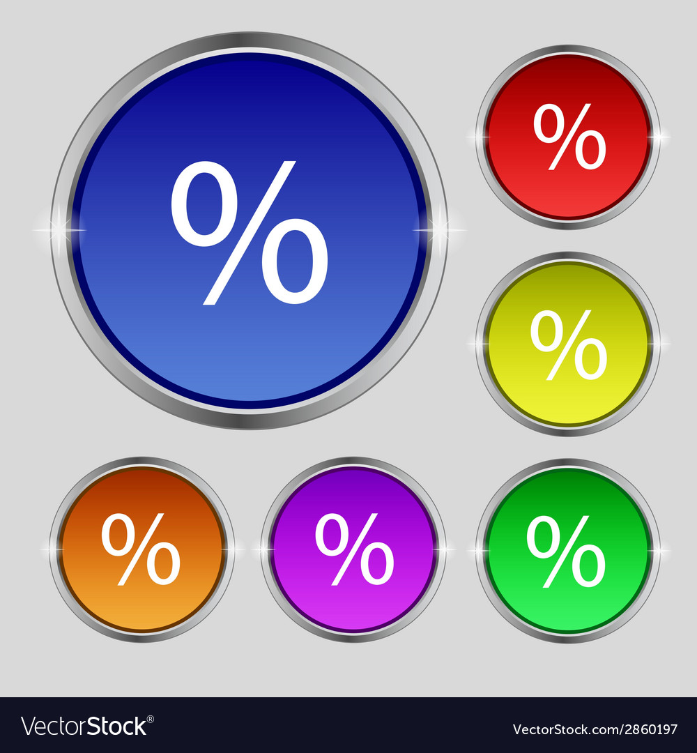 Discount percent sign icon modern interface vector   Price: 1 Credit (USD $1)