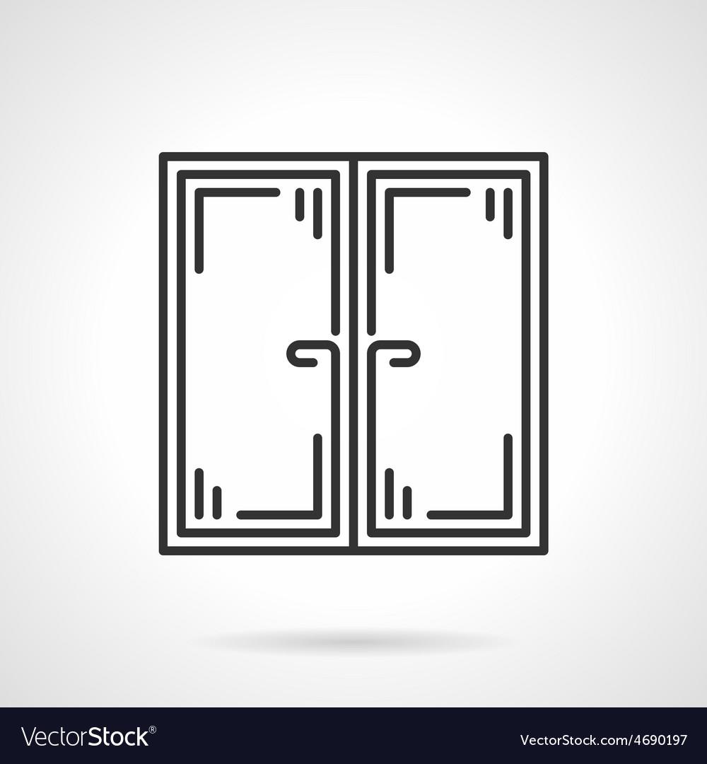 Double window black icon vector