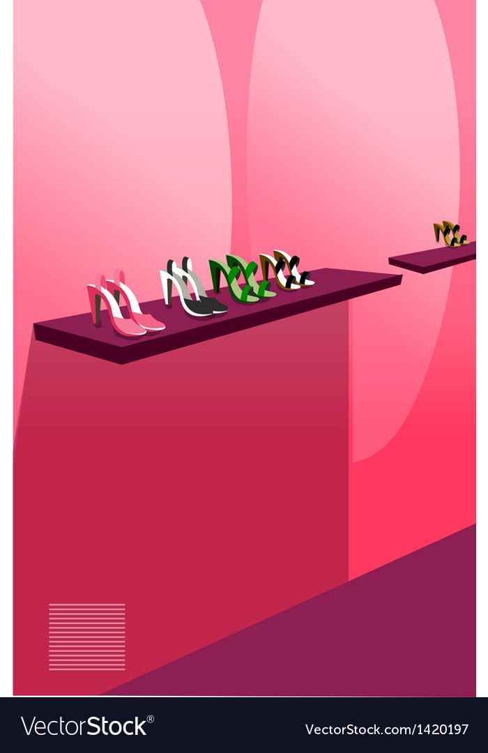 Female footwear display vector | Price: 1 Credit (USD $1)
