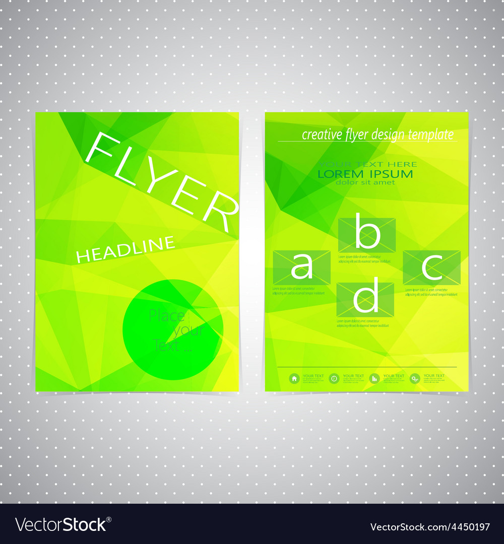 Flyer design triangle template layout  magazine vector | Price: 1 Credit (USD $1)