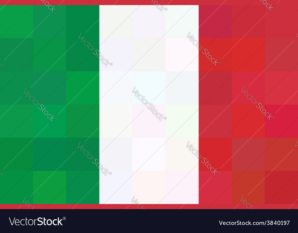 Geometric background in italy flag unusual concept vector | Price: 1 Credit (USD $1)