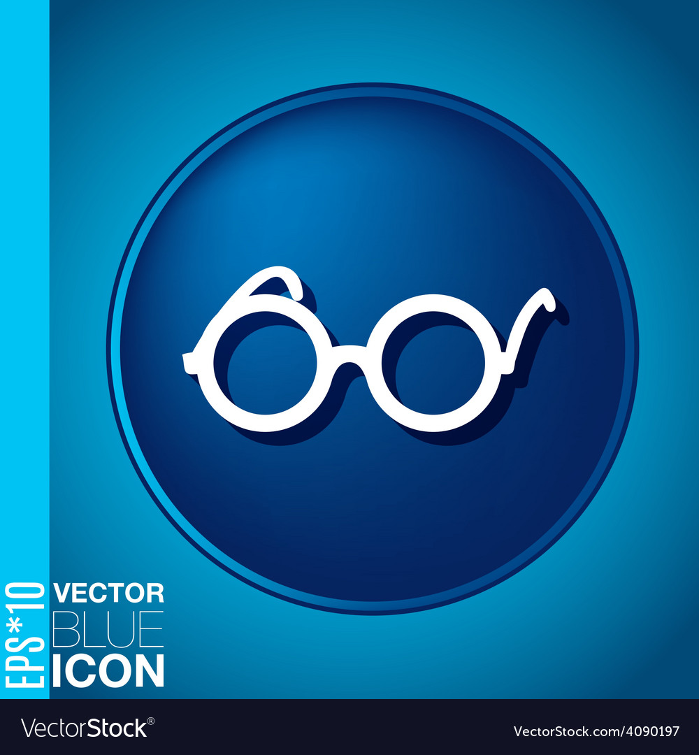 Glasses icon eyeglasses sign vector | Price: 1 Credit (USD $1)