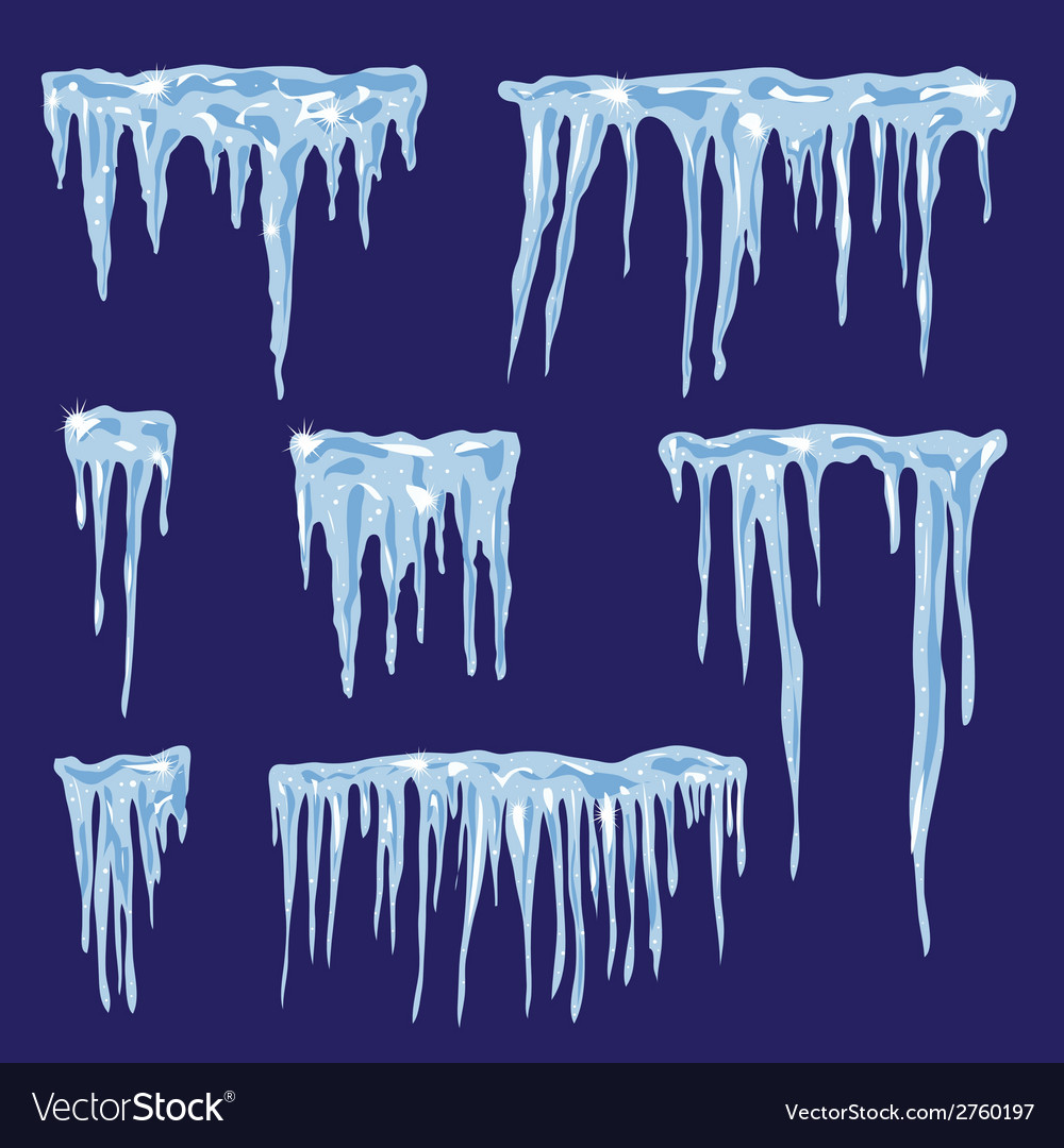 Icicles set for your design vector | Price: 1 Credit (USD $1)