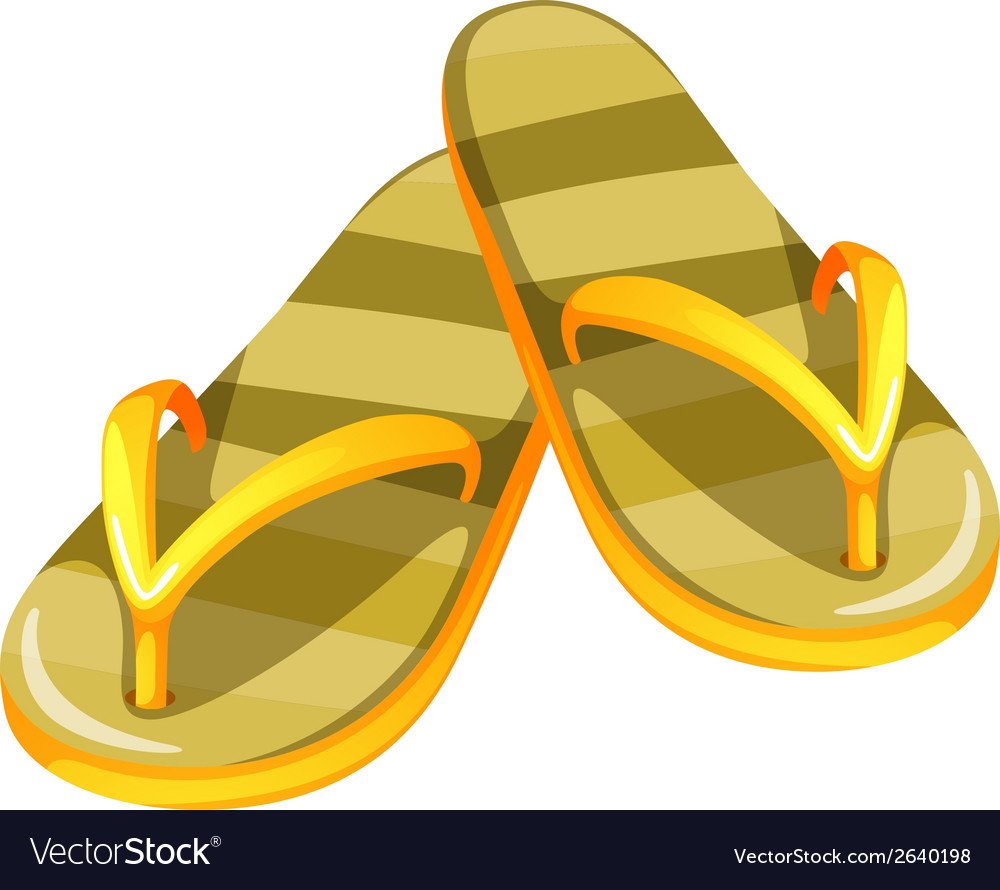 A pair of yellow sandals vector | Price: 1 Credit (USD $1)