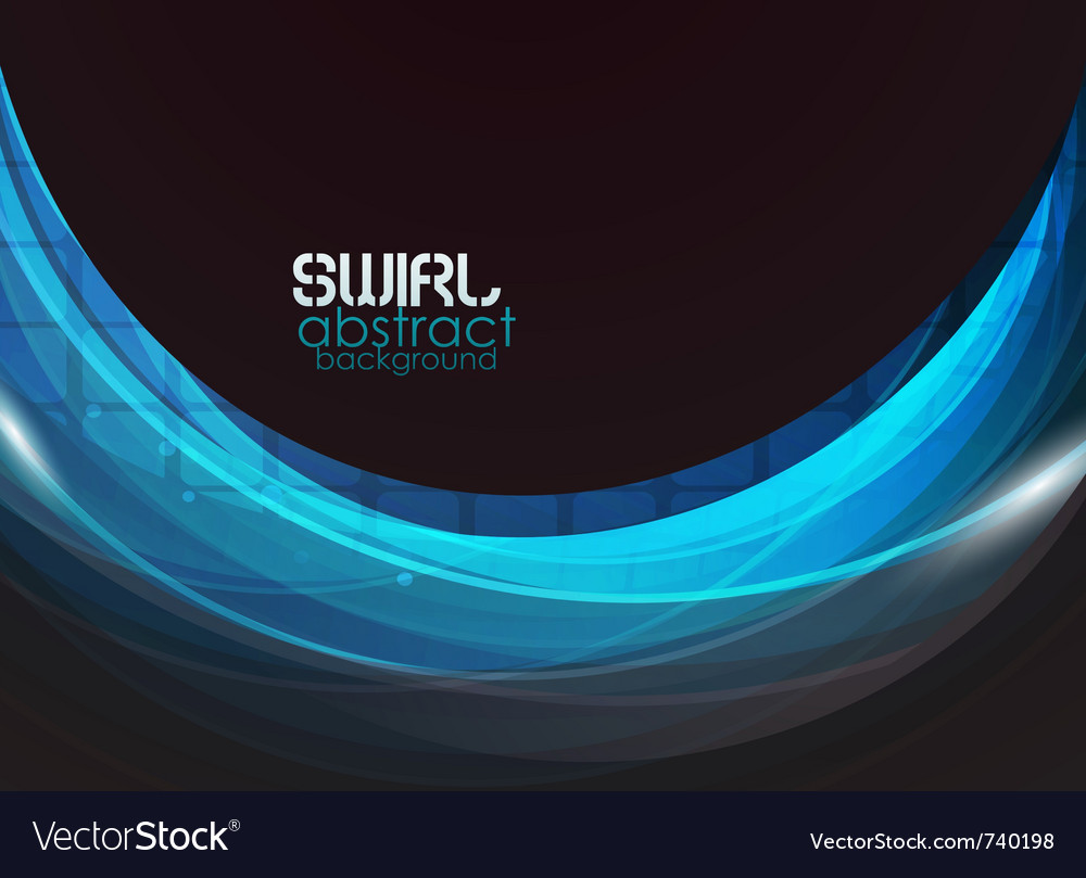 Blue wave abstract background vector | Price: 1 Credit (USD $1)