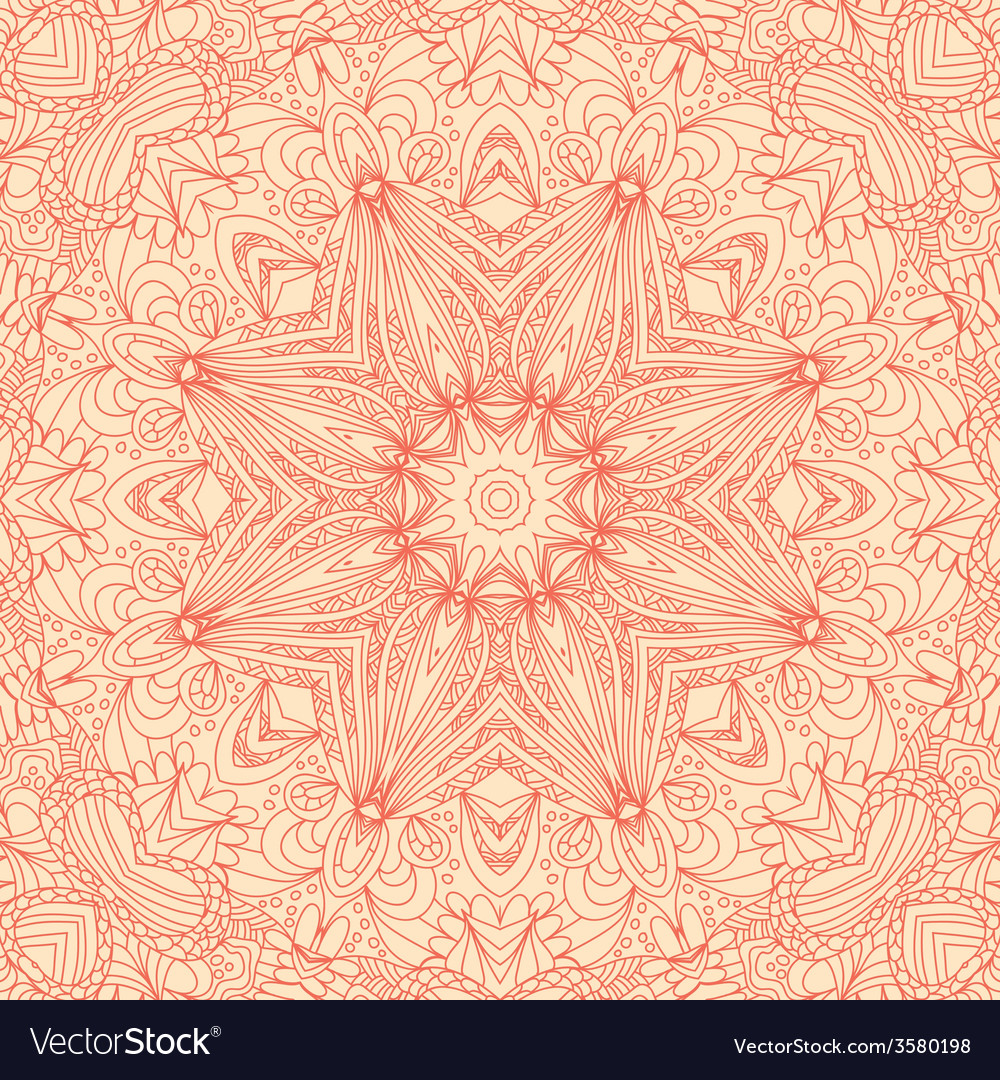 Circle lace hand-drawn abstract background vector | Price: 1 Credit (USD $1)