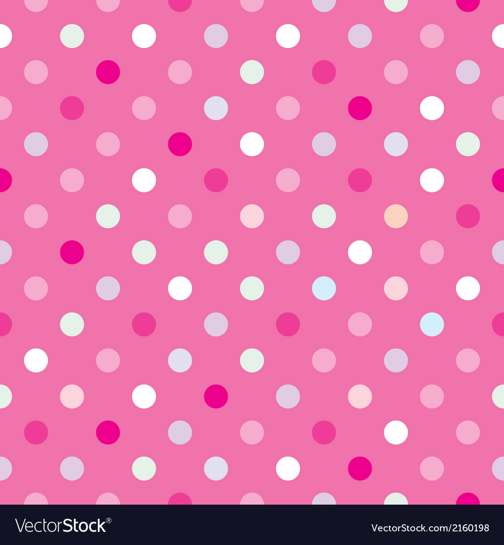 Colorful tile background pink polka dots wallpaper vector | Price: 1 Credit (USD $1)