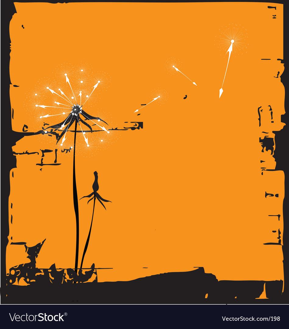 Dandelion illustration vector | Price: 1 Credit (USD $1)